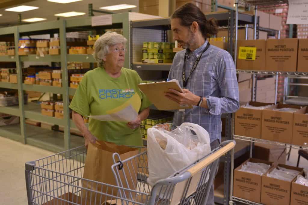 Delivering Health Program working on a food delivery